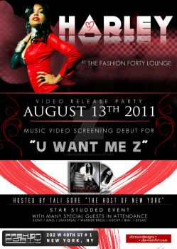 Club Flyers: VIDEO RELEASE by CBrownDESIGNS