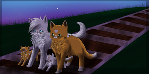 Strawbeerypaws family by chocobeery