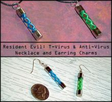 Resident Evil - T-Virus Charms by YellerCrakka
