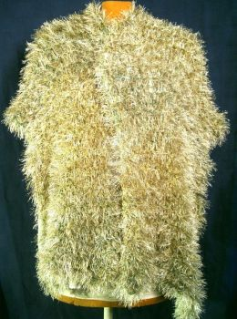 KNIT WRAP CATERPILLAR FUR by rosewoodcreations