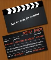 Clapperboard - business card by NatalyBirch