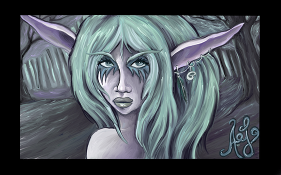 Night Elf - Tyrande by Okasa89
