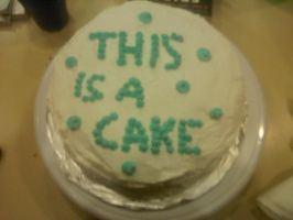 This Is A Cake by kiss-me-you-animal