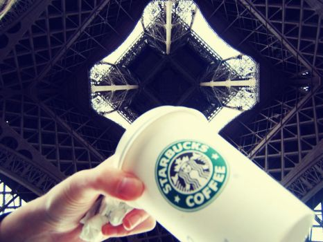 Starbucks - the Eiffel Tower by chandler-nyc