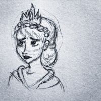 Elsa Concept Art Sketch 1 by littlewaysoul