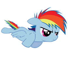 Rainbow Dash - Filly In Flight by Ocarina0fTimelord