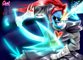 Undyne the Undying w/ Speedpaint! by CamilaAnims