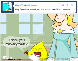 Rosalina's Reaction - 12 Chocolate cake by mrgardenart