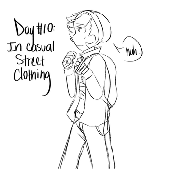Day #10: In casual/street clothing by Rainbowbells
