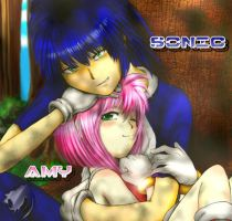 Sonic and Amy Humanized by QT-Star