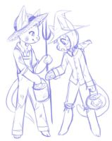 Farmer and his Scarecrow by Gelidwolf