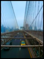 Brooklyn Bridge Tilt Shifted by Narfmaster