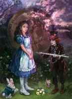 Like Tim Burton's Alice by iricolor