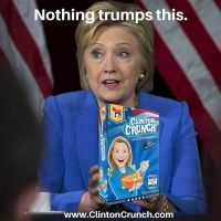 Hillary Clinton Cereal - Clinton Crunch by dhilipedeze