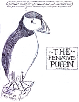Pensive Puffin by woozalia