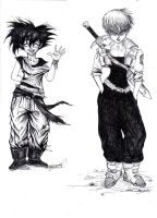 Goku, Trunks - Female version by cpn-blowfish