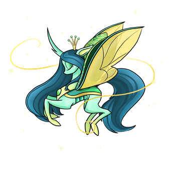 Chrysalis the flutterbug princess by SmilingM00N