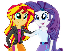 Sunset and Rarity by Fluttershy626