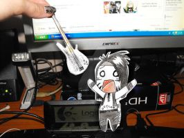 Give me back my bass - Chibi Ashley Purdy by LaDamePerverse