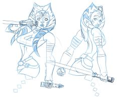 Ahsoka Tano Sketches by comixmill