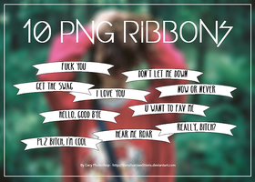 10 Png Ribbons by TransilvaniaEditions