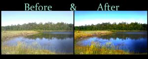 Hill and The Lake Before+After by KilljoyShellyShooter