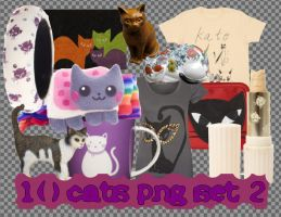 10 Cats PNG Set_2 by JEricaM