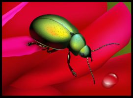Vector Rainbow Beetle by lazunov