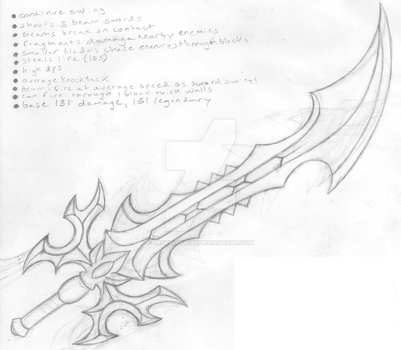 Death's Breath original concept drawing by legendguard