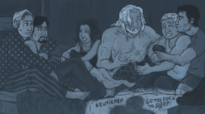 AVENGERS : go the f__k to sleep by LadyNorthstar