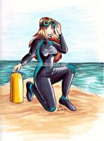 Scuba girl by jurijuri