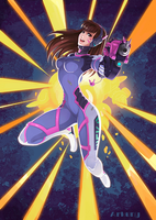 Overwatch D.Va Fan Art by Arkuny by Arkuny