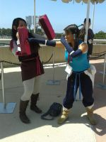 Sparring Asami and Korra by TheRealAsamiSato