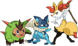 Kalos Starter Evolutions by Tails19950
