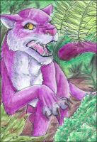 ACEO - Angry cat by Kiminuria