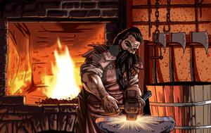 Quorron Dwarf Smith by ProdigyDuck