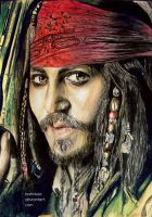 Johnny Depp colored pencil drawing by textmixer