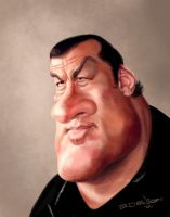 Steven Seagal by edvanderlinden