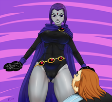 Raven punishes by Flick-the-Thief