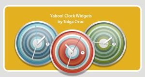 Clocks for Yahoo Widgets by lemondesign