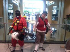 ECCC pictures: Scout and pyro by ParadoxialGamer