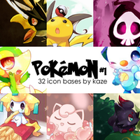 Pokemon Icon Bases by Kaze by azy0