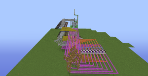 Tic Tac Toe Redstone Build - Overhead View 6 by bugworlds