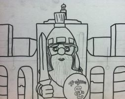 USC Gnome Painting Outline by sampson1721