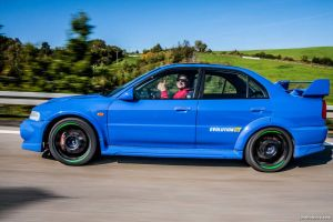 Lancer EVO VI in motion by chocholik