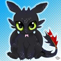 Toothless Chibi by Sepla