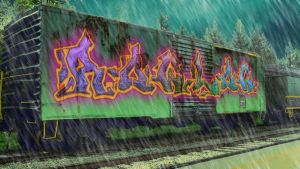 tagged up train by rowlee