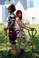Sora and Kairi by rainyrainbows