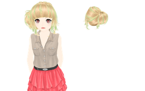 [MMD] Bun DL by xHappyYellowStripes