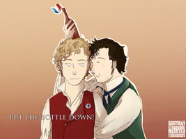 Les Mis: Grantaire, put that bottle down! by SarlyneART